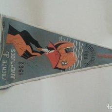 Galhardetes de coleção: EXCELENTE BANDERIN AÑOS 60. FRENTE JUVENTUDES 1962. Lote 112743795
