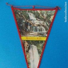 Banderines de colección: ANTIGUO BANDERIN DE TELA - MONASTERIO DE PIEDRA ( MADRID) - AÑOS 60 ... R-8465. Lote 113405243