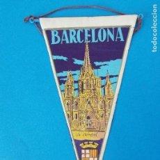 Banderines de colección: ANTIGUO BANDERIN DE TELA - BARCELONA - LA CATEDRAL - AÑOS 60 ... R-8468. Lote 113406179