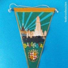 Banderines de colección: ANTIGUO BANDERIN DE TELA - BARCELONA - MONTJUICH - AÑOS 60 ... R-8476. Lote 113407107