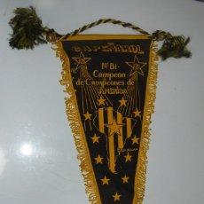 Banderines de colección: BANDERIN. PEÑAROL DE MONTEVIDEO. 1º BI-CAMPEON DECAMPEONES DE AMERICA. 1961. URUGUAY. 48CM. Lote 114350723