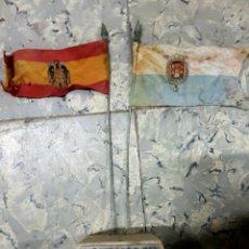 Banderines de colección: HOGUERA PUENTE VILLAVIEJA, ALICANTE, BANDERINES EN PEDESTAL, BANDERA FRANQUISTA,. Lote 214859398