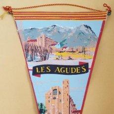 Banderines de colección: ANTIGUO BANDERIN - LES AGUDES SANTA FE DEL MONTSENY. Lote 114846323