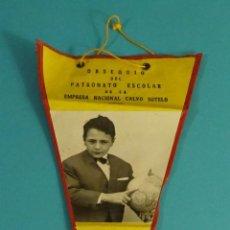 Banderines de colección: BANDERÍN PATRONATO ESCOLAR EMPRESA NACIONAL CALVO SOTELO. CURSO 1967-68. ANDORRA (TERUEL). Lote 115017011