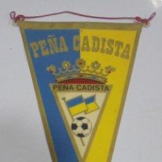 Banderines de colección: BANDERIN. PEÑA CADISTA. CADIZ CF. Lote 266307213