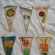 Banderines de colección: LOT DE 6 BANDERINS DEL MERCAT DEL RAM DE VIC. ANYS 1965, 1966, 1967, 1969, 1970 I 1971.. Lote 115188030