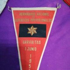 Banderines de colección: BANDERIN DE 1958,HERMANDAD NACIONAL DE ALFERECES PROVISIONALES.GARABITAS 1958. Lote 115485219