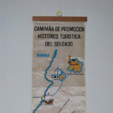 Banderines de colección: BANDERÍN CAMPAÑA DE PROMOCIÓN HISTÓRICO TURÍSTICA DEL SOLDADO - DIBUJO DIEGO GÁMEZ - AÑOS 60. Lote 115507219