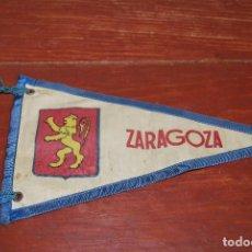 Banderines de colección: BANDERÍN DE ZARAGOZA - TEMPLO DEL PILAR Y RÍO EBRO - AÑOS 60. Lote 115507819
