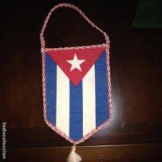 Fanions de collection: ANTIGUO BANDERÍN EN TELA-REPÚBLICA DE CUBA-CON CUBA PARA TODOS LOS TIEMPOS. Lote 116917563