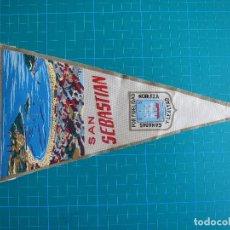 Banderines de colección: BANDERÍN SAN SEBASTIÁN 28,5 CM IRUPE EVEREST 103. Lote 117053755