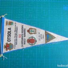 Banderines de colección: BANDERÍN OTSOLA CLUB ALPINO UZTURRE 28,5 CM IRUPE 2727. Lote 117054175