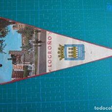 Banderines de colección: BANDERÍN LOGROÑO 28,5 CM. Lote 117055147