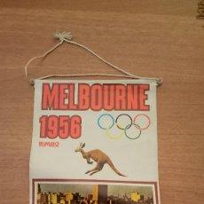Banderines de colección: BANDERIN DE PLASTICO MELBOURNE - 1956 - . Lote 117643495