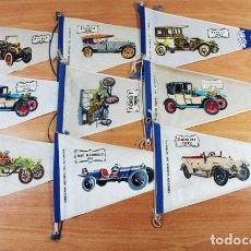 Banderines de colección: LOTE 9 BANDERINES COLECCION HISTORIA DEL AUTOMOVIL BIMBO, BANDERIN COCHES. Lote 118053791