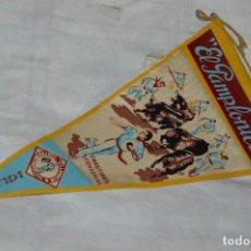 Banderines de colección: VINTAGE - ANTIGUO BANDERÍN - EL PAMPLONICA, PAMPLONA - AÑOS 50 / 60 - JOYA - RARÍSIMO - HAZ OFERTA. Lote 118188395