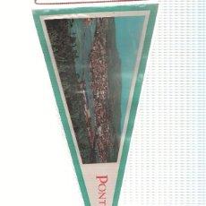 Banderines de colección: BANDERIN: PONTEVEDRA - IMAGEN AEREA DE LA CIUDAD DE PONTEVEDRA. Lote 118246654