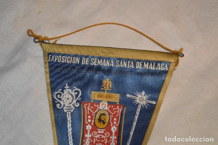 Banderines de colección: VINTAGE - ANTIGUO BANDERÍN - EXPOSICIÓN DE SEMANA SANTA DE MÁLAGA - 1960 - HAZME UNA OFERTA - Foto 2 - 118298955