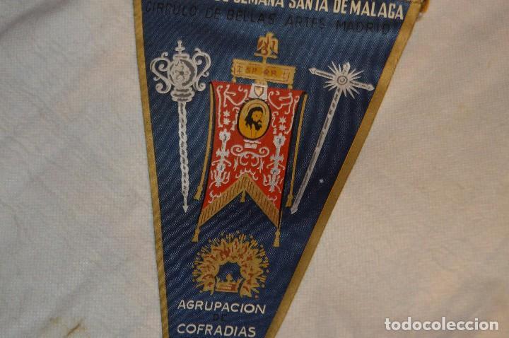 Banderines de colección: VINTAGE - ANTIGUO BANDERÍN - EXPOSICIÓN DE SEMANA SANTA DE MÁLAGA - 1960 - HAZME UNA OFERTA - Foto 3 - 118298955