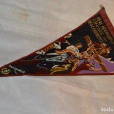 Banderines de colección: VINTAGE - ANTIGUO BANDERÍN - REAL HERMANDAD Y COFRADIA DEL DESCENDIMIENTO - SANTANDER - AÑOS 50 / 60. Lote 118299263