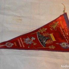 Banderines de colección: VINTAGE - ANTIGUO BANDERÍN - EXPOSICIÓN SEMANA SANTA DE MÁLAGA - 1960 - HAZME UNA OFERTA. Lote 118299591