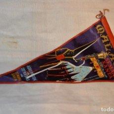Banderines de colección: VINTAGE - ANTIGUO BANDERÍN - MÁLAGA SEMANA SANTA - AGRUPACIÓN DE COFRADÍAS DE SEMANA SANTA - 50 / 60. Lote 118299847