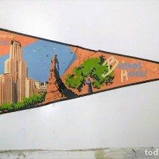 Banderines de colección: BANDERIN: ARGENTINA - BUENOS AIRES. ILUSTRACION DEL EDIFICIO KAVANAGH Y MONUMENTO A LEANDRO N. ALEM. Lote 118429518