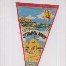 Banderines de colección: BANDERIN: SANT BOI DE LLOBREGAT- ILUSTRACION DE LA ERMITA DE SANT RAMON NONAT. Lote 118429588