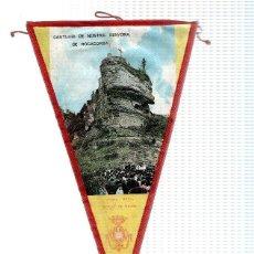 Banderines de colección: BANDERIN: ROCACORBA (GIRONA) - FOTOGRAFIA DEL SANTURIO, CON ESCUDO DEL BISBAT DE GIRONA.. Lote 118429623