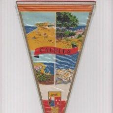 Banderines de colección: BANDERIN: CALELLA, GIRONA - 4 ILUSTRACIONES DE LA LOCALIDAD Y ESCUDO. Lote 118429723