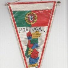 Banderines de colección: BANDERIN: PORTUGAL - MAPA DE PROVINCIAS EN UNA CARA E ILUSTRACION DE MOLINO EN LA OTRA CARA.. Lote 118429784