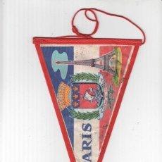 Banderines de colección: BANDERIN: PARIS - ESCUDO Y TORRE EIFFEL. Lote 118429967