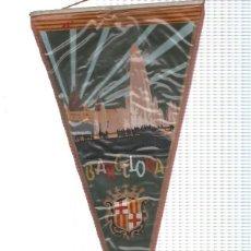 Banderines de colección: BANDERIN: BARCELONA - ILUSTRACION DE FUENTES DE MONTJUICH Y PALACIO NACIONAL NOCTURNA. Lote 118430624