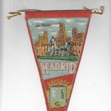 Banderines de colección: BANDERIN: MADIRD - VISTA DE LA PLAZA DE CIBELES Y ESCUDO. Lote 118431016