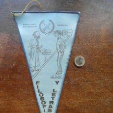 Banderines de colección: BANDERIN DEL PASO DEL ECUADOR DE LA FACULTAD DE FILOSOFIA Y LETRAS 1965 - 1966. Lote 118697935