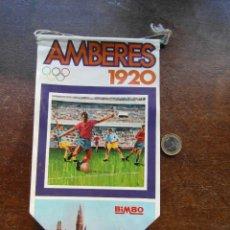 Banderines de colección: BANDERIN BIMBO Nº 6. AMBERES 1920. BELGICA. PORTERO ZAMORA. Lote 118698839
