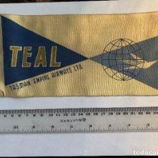 Banderines de colección: BANDERÍN TASMAN EMPIRE AIRWAY LTD PRINCIPIOS AÑOS 60. Lote 118926827