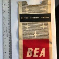 Banderines de colección: BANDERÍN BRITISH EUROPEAN AIRWAYS AÑOS 60. Lote 118928803
