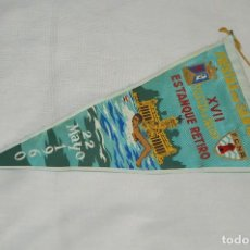 Banderines de colección: VINTAGE - ANTIGUO BANDERÍN - FIESTAS DE SAN ISIDRO - XVII VUELTA A NADO - 22 MAYO 1960 - ENVÍO 24H. Lote 122474271