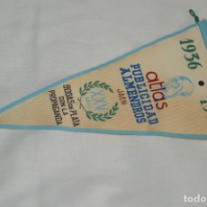 Banderines de colección: VINTAGE - ANTIGUO BANDERÍN - ATLAS PUBLICIDAD ALMENDROS JAEN - 1936 / 1960 - ENVÍO 24H. Lote 122474887