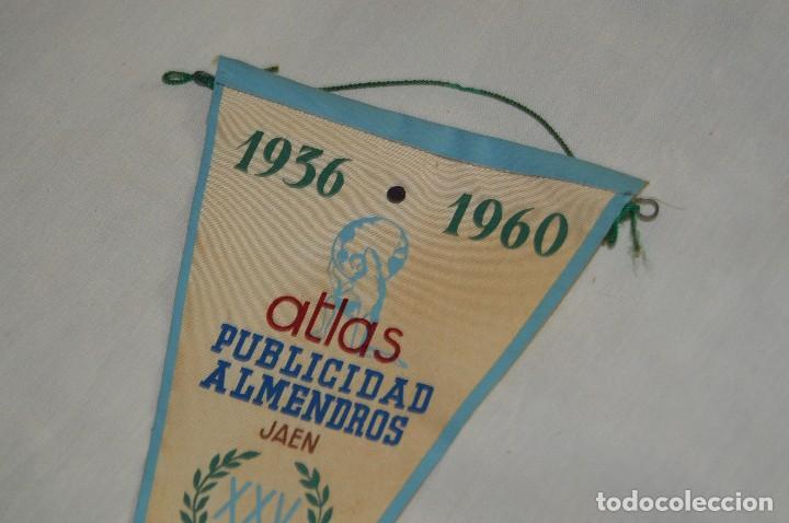 Banderines de colección: VINTAGE - ANTIGUO BANDERÍN - ATLAS PUBLICIDAD ALMENDROS JAEN - 1936 / 1960 - ENVÍO 24H - Foto 2 - 122474887