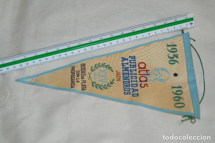 Banderines de colección: VINTAGE - ANTIGUO BANDERÍN - ATLAS PUBLICIDAD ALMENDROS JAEN - 1936 / 1960 - ENVÍO 24H - Foto 5 - 122474887