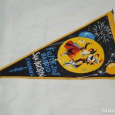 Banderines de colección: VINTAGE - ANTIGUO BANDERÍN - FESTEJOS BARRIO SAN AGUSTÍN ZARAGOZA 1961 - ENVÍO 24H. Lote 122476031
