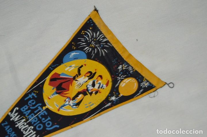 Banderines de colección: VINTAGE - ANTIGUO BANDERÍN - FESTEJOS BARRIO SAN AGUSTÍN ZARAGOZA 1961 - ENVÍO 24H - Foto 2 - 122476031