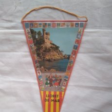 Banderines de colección: BANDERÍN LLORET DE MAR PLASTIFICADO AÑOS 60- 29 CM. Lote 122776791