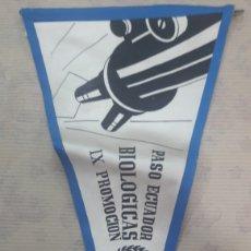 Banderines de colección: ANTIGUO BANDERÍN IRUPE BIOLOGIA BIOLÓGICAS 1962 63. Lote 125049863