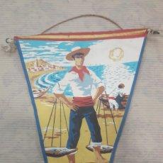Banderines de colección: ANTIGUO BANDERÍN MÁLAGA. Lote 125053647