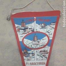Banderines de colección: ANTIGUO BANDERÍN ESTACIÓN INVERNAL NAVACERRADA. Lote 125055208