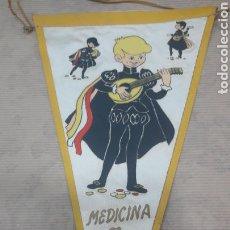 Banderines de colección: ANTIGUO BANDERÍN TUNA MEDICINA. Lote 125055635