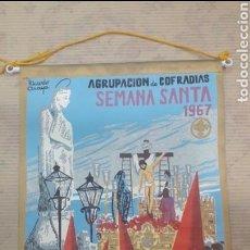 Banderines de colección: ANTIGUO BANDERÍN IRUPE AGRUPACIÓN COFRADÍAS SEMANA SANTA CÓRDOBA RICARDO ANAYA 1967. Lote 125059166